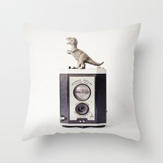 The Dinosaur and The Brownie Throw Pillow
