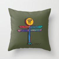 land's end sign Throw Pillow