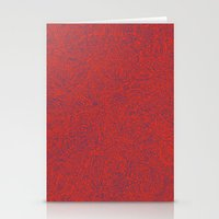 Abstract #002 Cells (Red… Stationery Cards