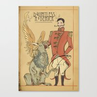 Roderick, the great griffin tamer Canvas Print