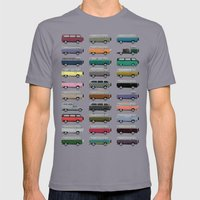 Camper Van Mens Fitted Tee Slate SMALL