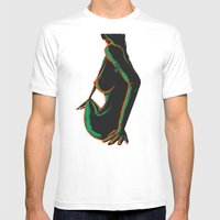 Swimmer #1 Mens Fitted Tee White SMALL