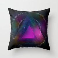 Retro Futurdelic Throw Pillow