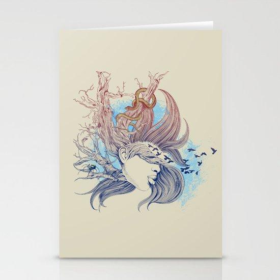 Tree Girl Stationery Card