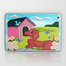 Daisies and A Dachshund Laptop & iPad Skin