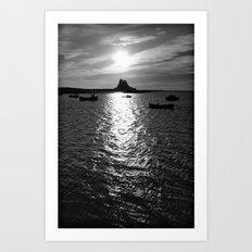 Holy Island Art Print
