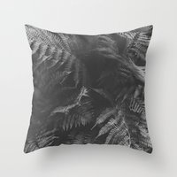 Colorless Fern Throw Pillow