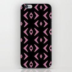 Pink and black geometric pattern iPhone & iPod Skin