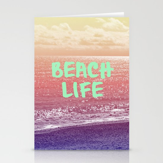 Beach Life Stationery Card