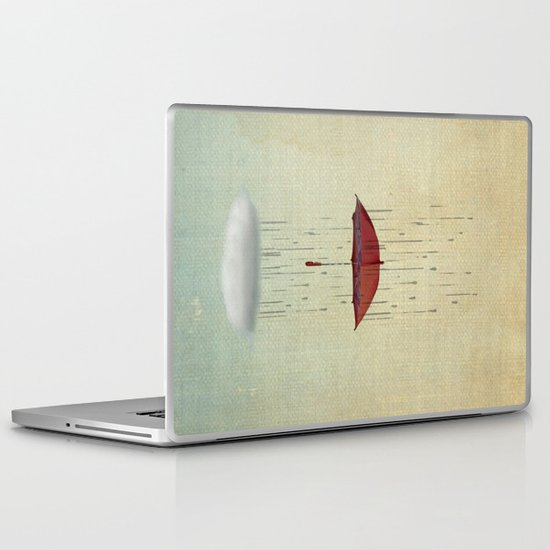 the umbrella runneth over 02 Laptop & iPad Skin