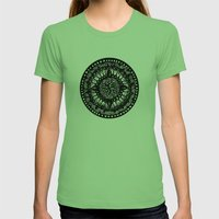 Mandala Womens Fitted Tee Grass SMALL
