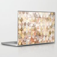 Laptop & iPad Skin featuring REALLY MERMAID GOLD by Monika Strigel