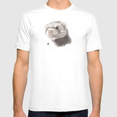 Ferret Mens Fitted Tee White SMALL
