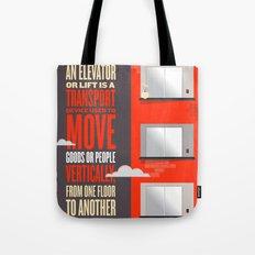 Elevator - Illustrated Wikipedia Tote Bag