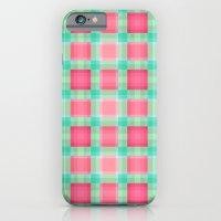 Watermelon Mint Geo Plaid iPhone 6 Slim Case