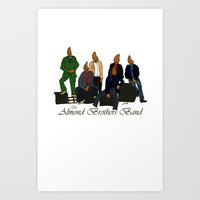 The Almond Brothers Band Art Print