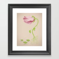 Wild Flowers: Be the Flower you want to be Framed Art Print