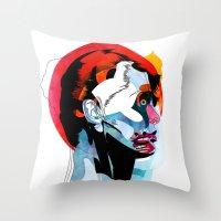 Girl_220512 Throw Pillow
