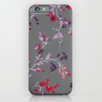 Floral Vines - Dark Grey… iPhone 6 Slim Case