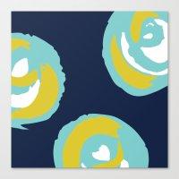 Big Rosie - Turquoise Canvas Print