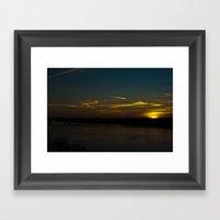 The Sun Paints With Ligh… Framed Art Print