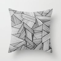 Straight Lines Throw Pillow