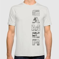 Gamer 2 Mens Fitted Tee Silver SMALL