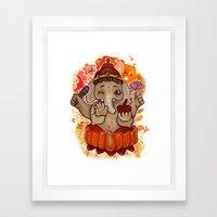 Svadhishthana Chakra Ganesha Framed Art Print