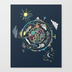 Running Like Clockworld Canvas Print