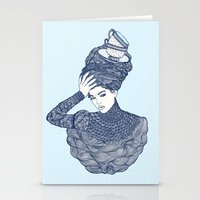 ♥ Early Winter,  Tea T… Stationery Cards