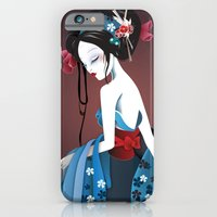 iPhone & iPod Case featuring Geisha la blanche by DesignDinamique