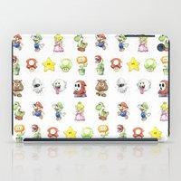 Mario Characters Watercolor  iPad Case
