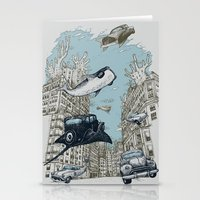 The Streets Of Atlantis Stationery Cards
