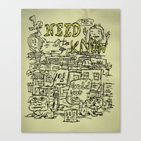 Need To Know Canvas Print