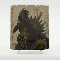 Gojira Shower Curtain