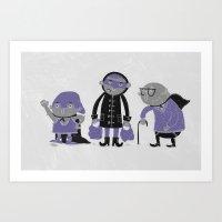 Superheroes! Art Print