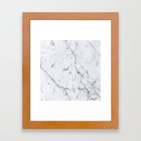 Marble Pattern  Framed Art Print