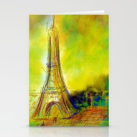 eiffel Stationery Cards featuring Eiffel by Alexandre Reis