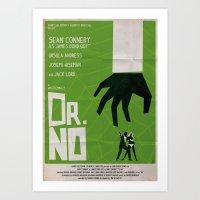 Green Dr No Art Print
