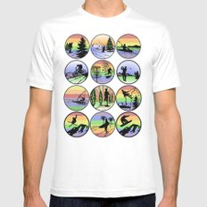 Outdoor sports SMALL White Mens Fitted Tee
