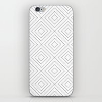Squares white iPhone & iPod Skin