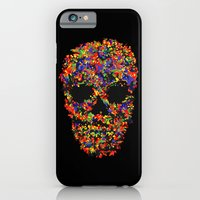 iPhone & iPod Case featuring Colorful Skull by KARAM