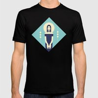 Phaedra Blue Mens Fitted Tee Black SMALL