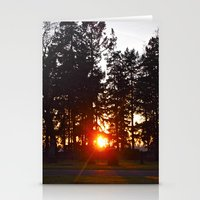 Cemetery sunset Stationery Cards