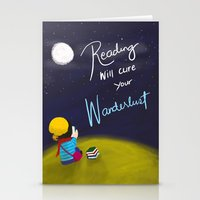 Reading Will Cure Your Wanderlust Stationery Cards