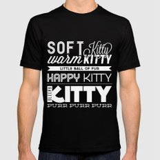 Soft Kitty Mens Fitted Tee Black SMALL