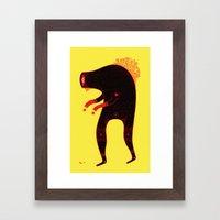 c r e e p i n  Framed Art Print