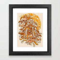 Ginger Monsterous Framed Art Print