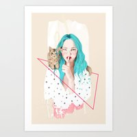 Shhh... Art Print