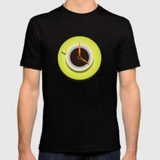 It's Coffee Time SMALL Mens Fitted Tee Black